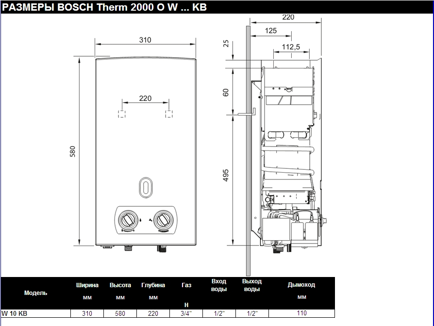 Bosch (Бош) Therm 2000 O W 10 KB